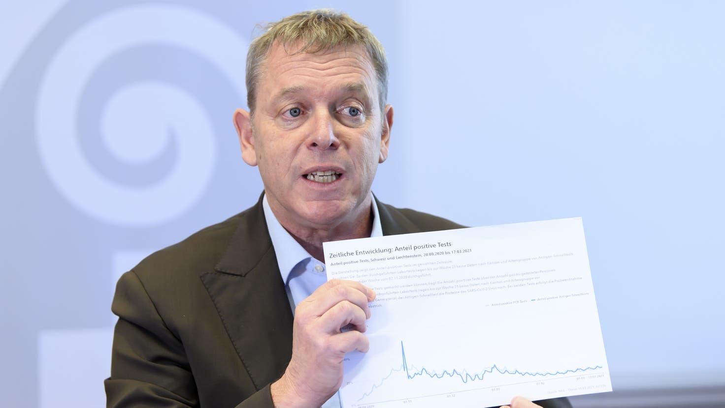 Hofft auf baldige Lockerungen: Casimir Platzer, Präsident Gastrosuisse. (KEYSTONE)