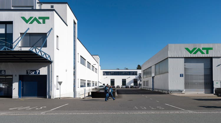 Blick auf den Hauptsitz der VAT Group AG. (Gian Ehrenzeller/KEYSTONE)