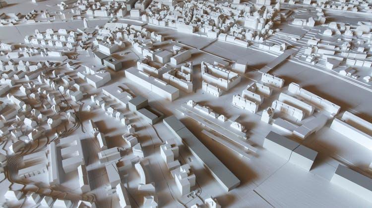 Solothurn als Modell. Hier bei der Präsentation der Ortsplanungsrevision im September 2018. (Hanspeter Bärtschi)