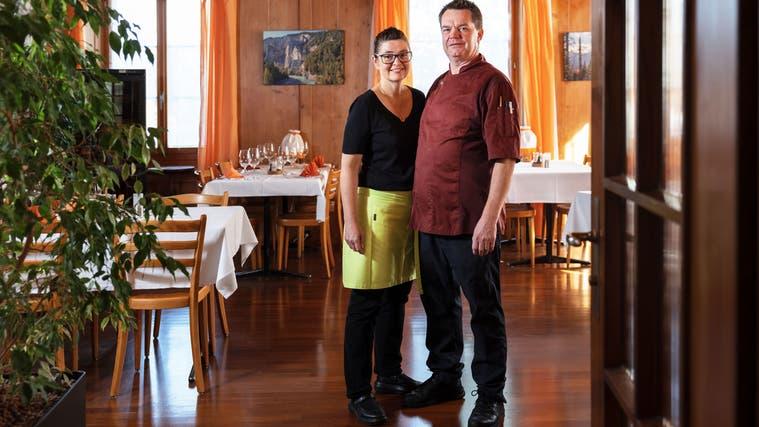 Jeannine und Marcel Schilder schliessen die «Krone» per Ende November. (Hanspeter Bärtschi)
