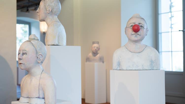 Skulpturen von Nadja Lerch im Schlösschen Vorder-Bleichenberg Biberist. (Carole Lauener)