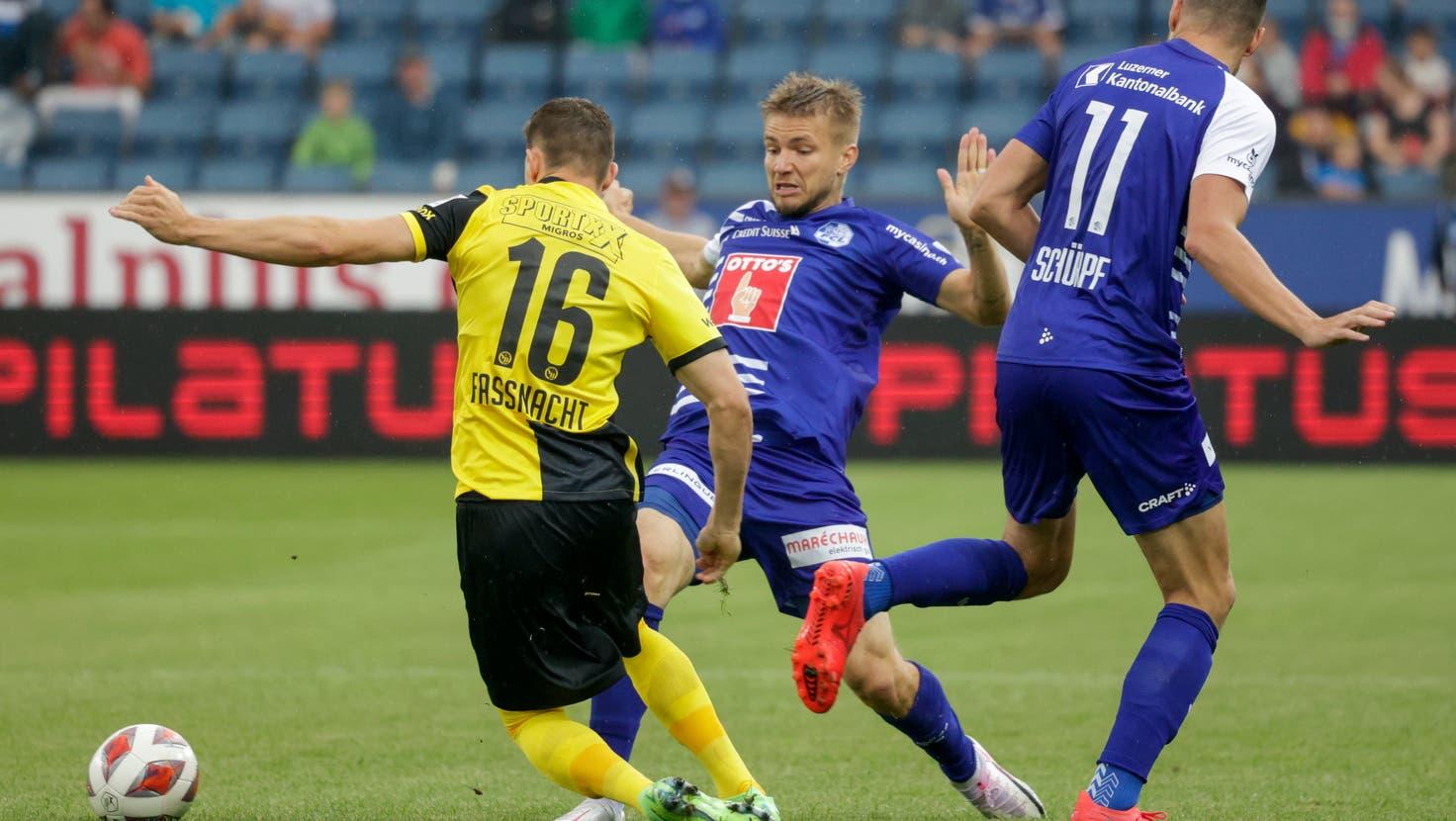YB mit viel Ballbesitz – der FCL spielt in Bern gegen den Meister