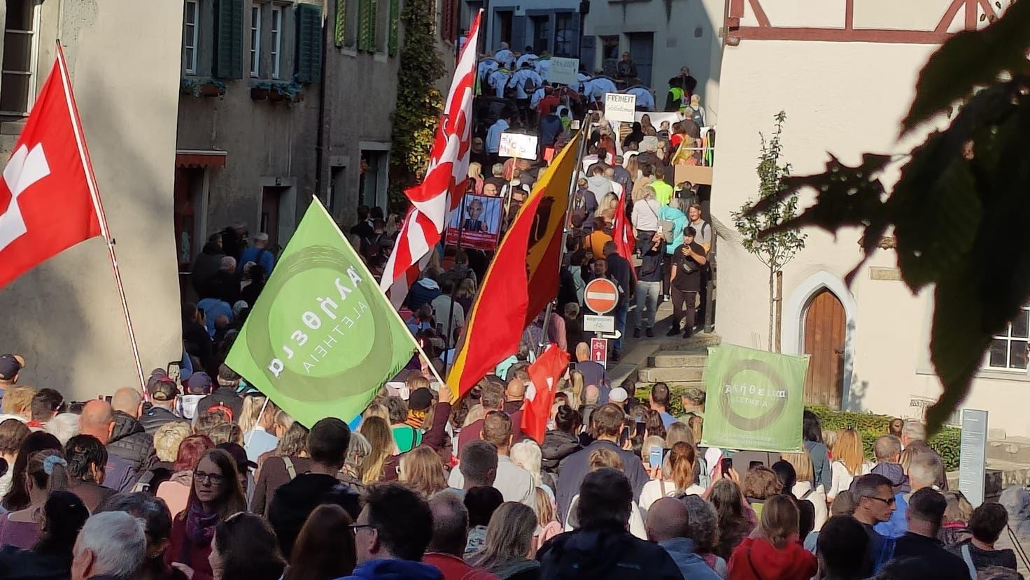 Demonstration in Baden verläuft friedlich: Die Polizei musste nicht eingreifen – trotz Gegendemo