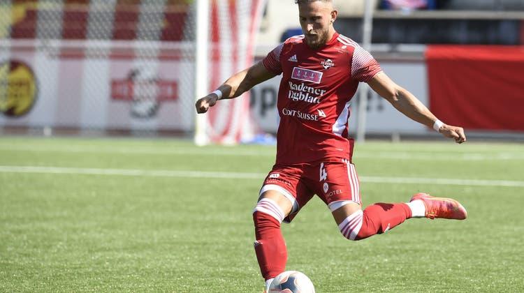 Patrick Muff vom FC Baden sah die rote Karte. (BT-Archiv/Alexander Wagner (14.8.2021))