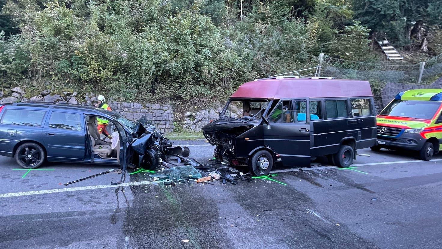 Ein Bild der Unfallstelle. (Bild: Kantonspolizei Uri)