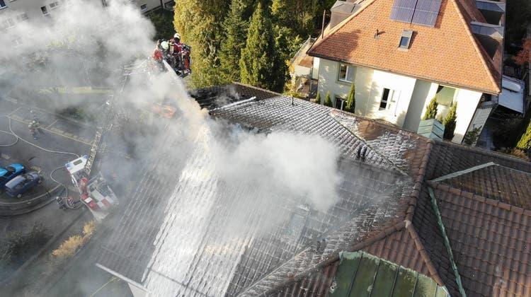 Die brennende Dachgeschosswohnung. (zvg)