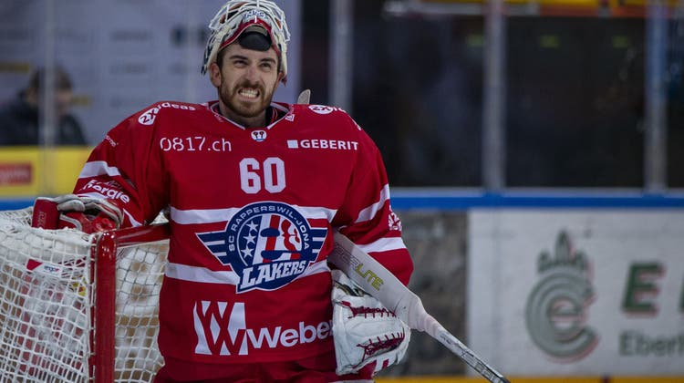 Unersetzlich: Rapperswil-Jonas Goalie Melvin Nyffeler. (Bild: Patrick B. Kraemer / KEYSTONE)