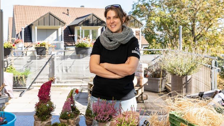 «Mir ist es wichtig, dass es urchig aussieht», sagt die 37-jährige Barbara Vogel über ihre selbst gebastelten Dekorationen. (Valentin Hehli)