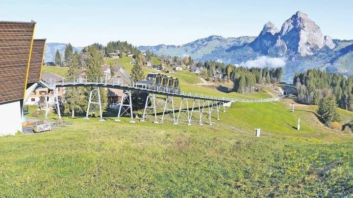 Auf der Piste Maggiweid, direkt neben der Bergstation der Standseilbahn, finden die Rennen statt. (Bild: PD)
