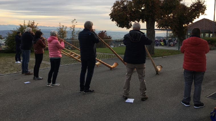 Alphornklänge auf der Bellevue-Terrasse