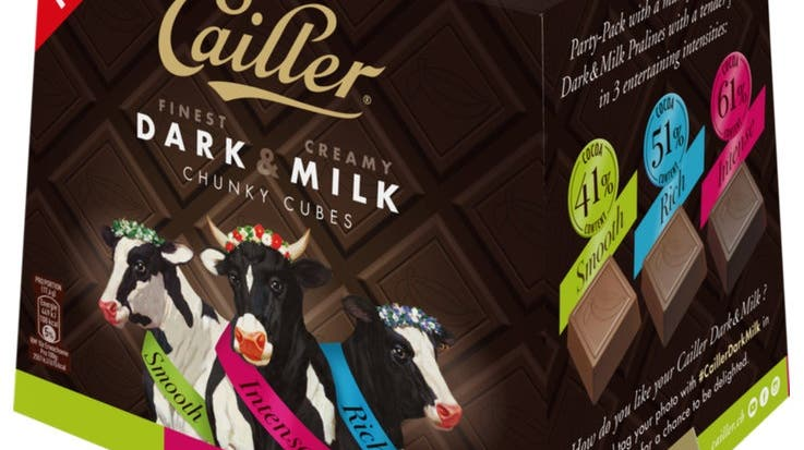 Mit der Produktlinie «Dark & Milk» lancierte Nestlé 2019 eine Innovation in verschiedenen Variationen. Sie hatte keinen Erfolg. (Nestlé, Screenshot Coop.ch)