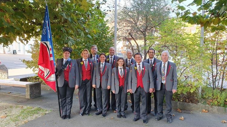 MG-Seon darf vier Jubilaren zum Veteranen ehren