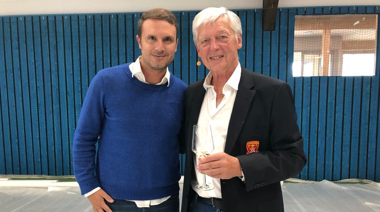 Freddy Blatter mit Alessandro Greco, Leiter Spitzensport bei Swiss Tennis (links). (Katja Schlegel / Aargauer Zeitung)