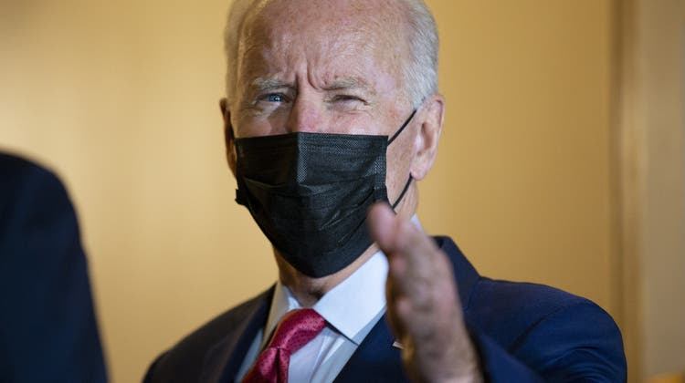 Joe Biden spricht zu den Medien nach einem Treffen der demokratischen Partei auf Capitol Hill. (Keystone)