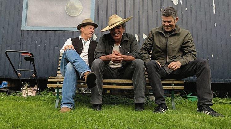Jeffrey Halford(links) mit The HealersBill Macbeath und Adam Rossi. (zvg)