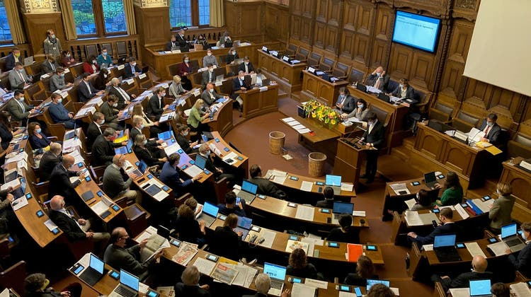 Nach eineinhalb Jahren ist der Grosse Rat wieder im Rathaus zurück. (Jonas Hoskyn)