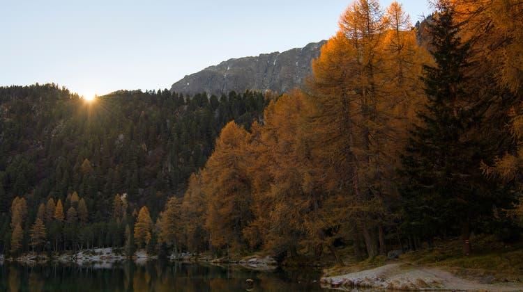 Der Föhn sorgte unter anderem in den Bergen für einen warmen Herbsttag. (Symbolbild) (Keystone)