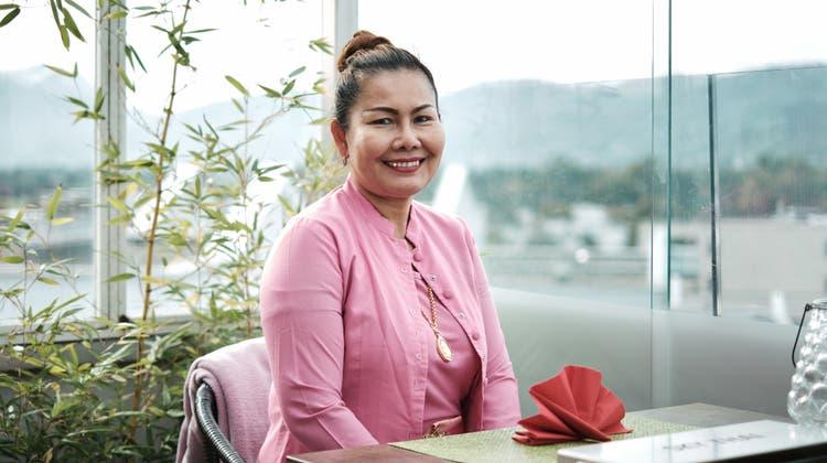 Malee Khongsaenkom im RestaurantSky Thai im Hotel Metropol in Widnau. (Bild: Andri Vöhringer)