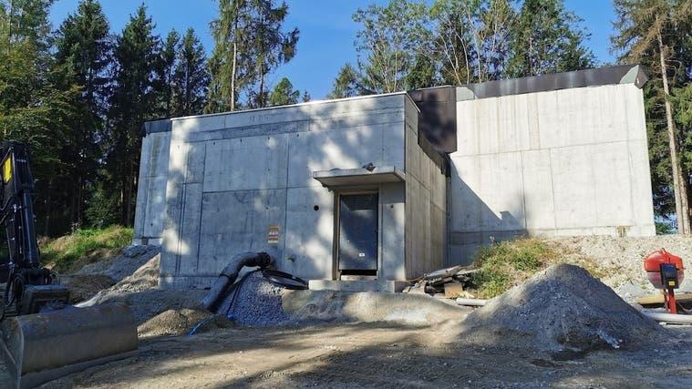 Nach einer zweijährigen Bauzeit kann das neue Reservoir Brandhalde am Samstag, 23. Oktober, in Betrieb genommen werden. (zvg)