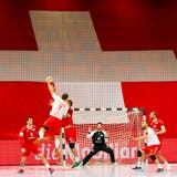 28.04.2021; Winterthur; Handball EM Quali - Schweiz - Daenemark; Andy Schmid (SUI)  (Marc Schumacher/freshfocus) (Marc Schumacher / freshfocus)