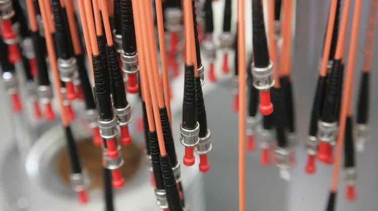 Glasfaserkabel gehören zu den wichtigsten Geschäftsfeldern der Huber+Suhner. (Ralph Ribi)