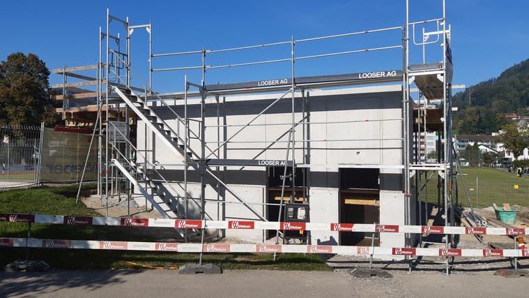 Der neue Clubraum des FC Wattwil Bunt auf der Sportanlage Grüenau. (Bild: Beat Lanzendorfer)