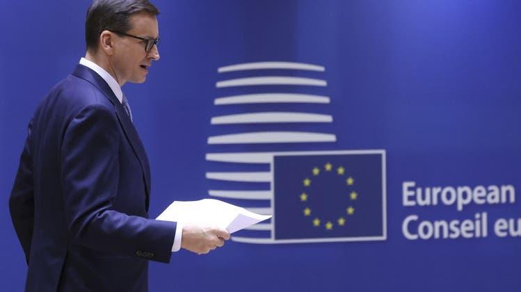 """Der polnische Ministerpräsident Mateusz Morawiecki wirft dem Europäischen Gerichtshof vor, einen """"EU-Superstaat"""" einführen zu wollen. (Keystone)"""