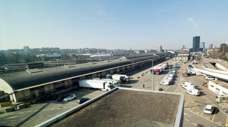 Der Güterbahnhof Wolf wird zur gemischten «Smart City». Als Wohnlage ist die Sicht auf viel Verkehr garantiert. (Kenneth Nars)
