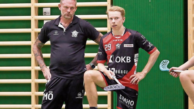 Trainer Mikael Öhman(links), hier mit Landsmann Mathias Hagert.