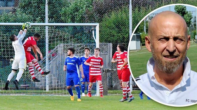 Im Sommer verpasste der FC Hägendorf den Aufstieg in die zweite Liga in den Aufstiegsspielen knapp. Hier ein Bild des Spiels gegen den FC Trimbach. (Bruno Kissling)