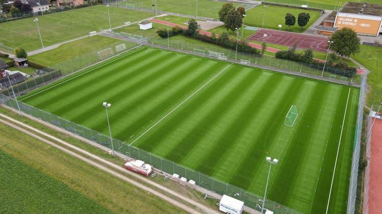 Der neue Allwetterplatz auf der Bütschwiler Sportanlage Breite. (Bild: PD)