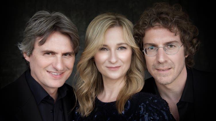Das Schweizer Klaviertrio mit Martin Lucas Staub, Angela Golubeva und Joël Marosi. (zvg)