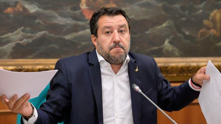 Der ehemalige italienische Innenminister Matteo Salvini hat die Betreuungsstrukturen für Asylsuchende massiv heruntergefahren. (Keystone)