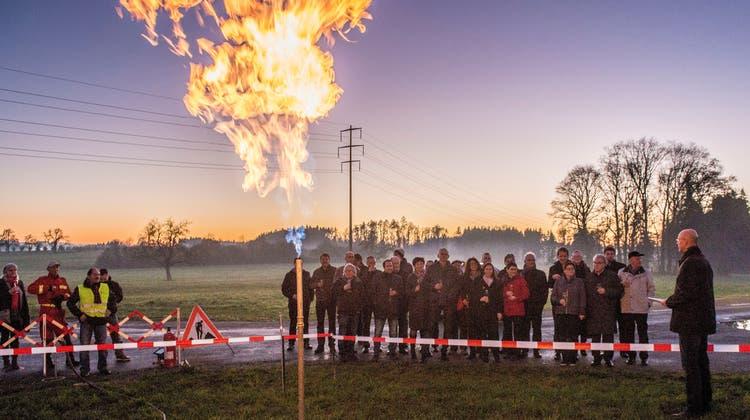 Gas war lange eine günstige Energiequelle – hier ein Bild von der Einweihung einer neuen Erdgasleitung in Hagenwil im Jahr 2015. (Reto Martin)