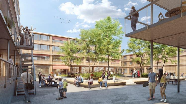 Eindruck von der geplanten Wohnüberbauung «Stadtsäge».