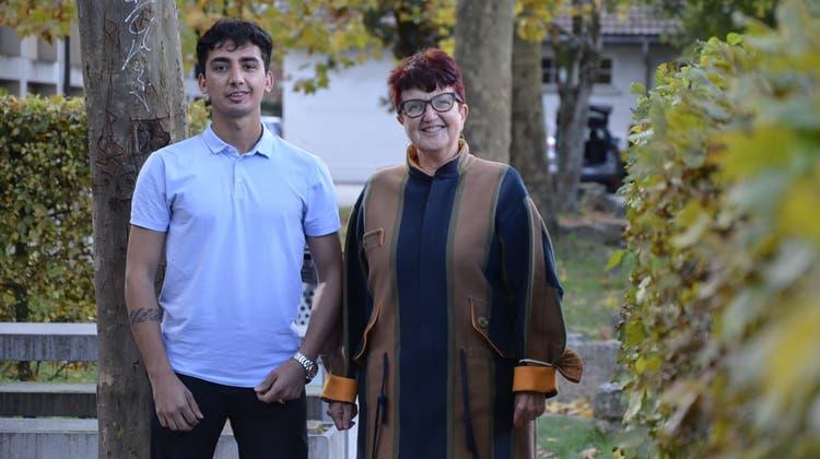 Kathrin Baumann ist Mentorin vonSamiallah Ahmadi. (Daniel Vizentini)