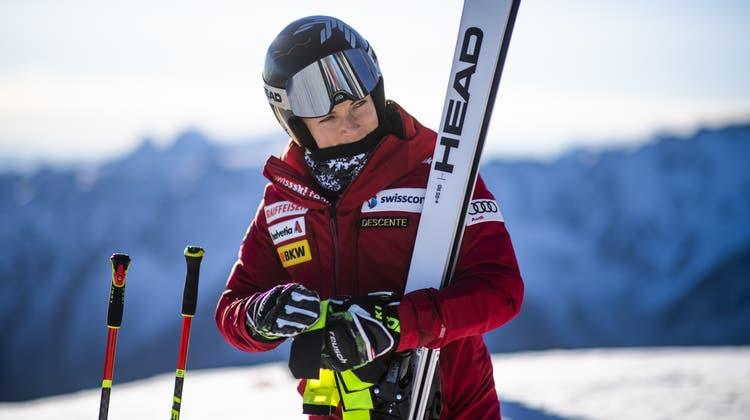 Endlich Gold und dann gleich zweimal: An der WM in Cortina wurde Lara Gut-Behrami zur grossen Siegerin. (Christian Bruna / EPA)