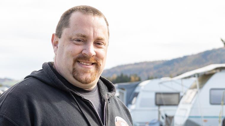 Der neue Präsident des Bad Zurzacher Campingsplatzes, Philip Meili, möchte die Gräben zwischen den Mitgliedern überwinden. (Valentin Hehli)