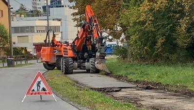 Neben dem Freigleis wird der Schäferweg (links) aufgebrochen. (Bild rk)