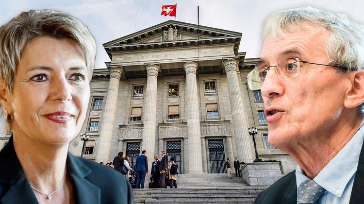 Gegnerin der Justizinitiative: Justizministerin Karin Keller-Sutter. (Sandra Ardizzone(11.10.2021))