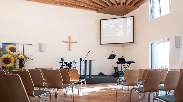 Der neue Saal bietet Platz für bis zu 200 Personen. (Bild: Patrick Hürlimann (Emmen, 23. Oktober 2021))