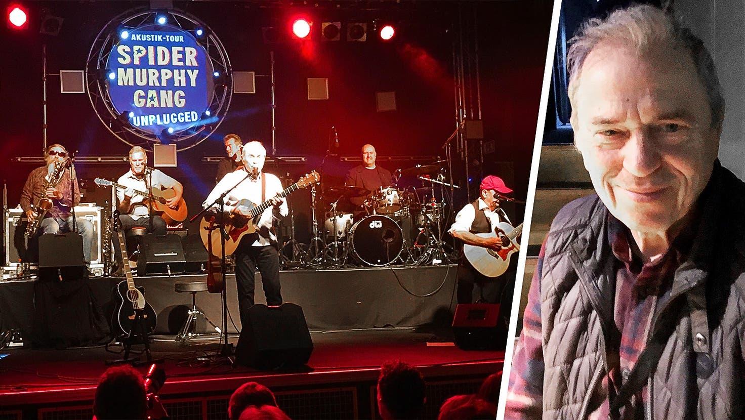 Günther Sigl, der Frontmann der Spider Murphy Gang erzählt vom Band-leben vor dem Auftritt im P9 in Biberist (Frb)