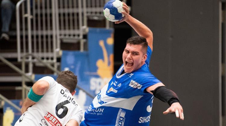 Mit sechs Treffern bester Krienser:Sikosek Pelko. (Bild: Eveline Beerkircher)