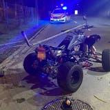 Der Quad-Fahrer zog sich beim Unfall schwere Verletzungen zu. (Bild: Kantonspolizei Thurgau)