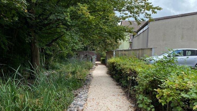 Im Dellenpark in Trimbach wurde der Metallsteg mit einem Juramergelweg ersetzt. (Zvg)