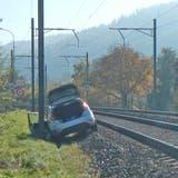 Beim Unfall wurde niemand verletzt. Die Bahnstrecke musste unterbrochen werden. (Bild: Kapo TG)