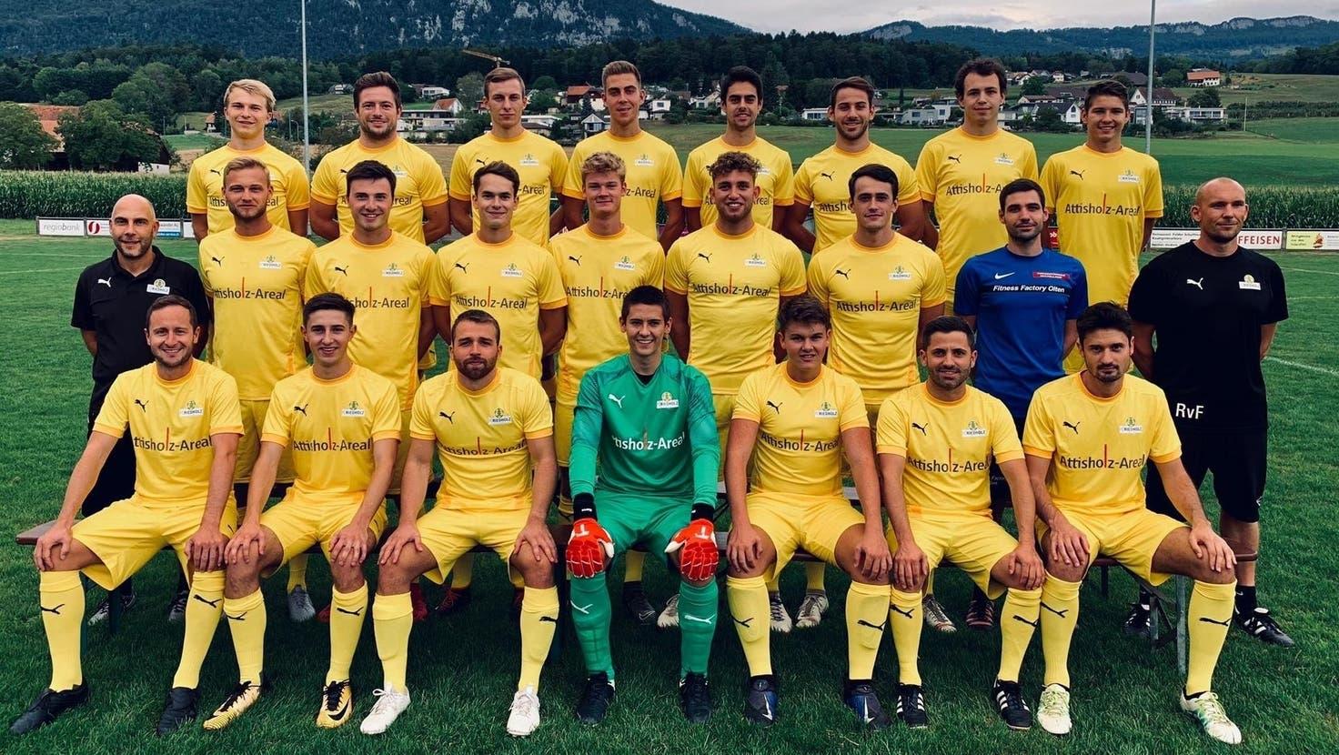 Der FC Riedholz führt die Gruppe 1 der 3. Liga nach Verlustpunkten an. (zvg)