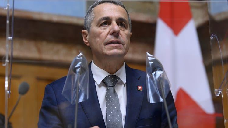 Will schon bald nach Brüssel reisen: Aussenminister Ignazio Cassis. (Keystone)