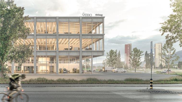 So soll der Vebo-Neubau auf dem «Glutz-Blotzheim-Areal» aussehen – «im Herzen der Gesellschaft», sagt Vebo-Direktor Marc Eggimann. (zvg)