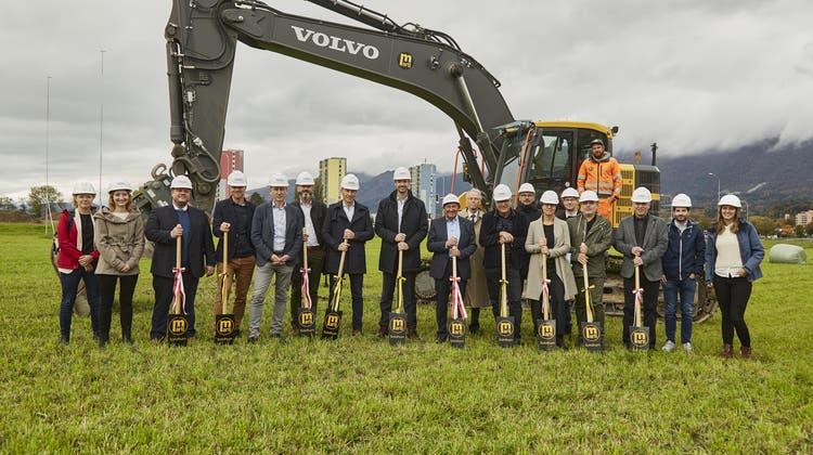 Spatenstich beim VEBO Neubau in Solothurn